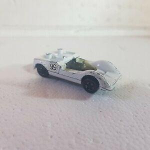 Vintage Hot Wheels Redline white enamel chaparral no wing loose