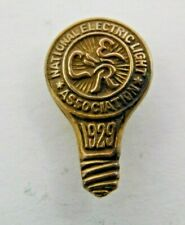 Antique Gold Plated 1929 National Electric Light Association Lapel Pin