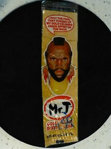 "MR T GOLD CHAIN BUBBLE GUM...never opened...1984...9 3/4"" x 2 3/4"" gum..."