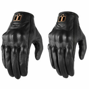 2021 Icon Womens Pursuit Classic Leather Motorcycle Glove - Pick Size/Style
