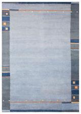 Tapis bleu avec des motifs Bordé pour la maison en 100% laine
