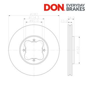 DON PCD16622 Front Brake Disc Set 282mm Fits Honda Accord Mk IV Rover 600