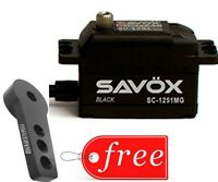 Savox SC1251MG-BE Black Edition Low Profile Digital Servo + FREE Aluminum Horn
