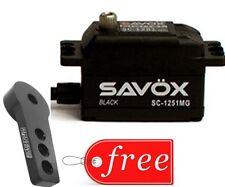 Savox SC1251MG-BE Black Edition Low Profile Digital Servo + FREE Aluminum Horn