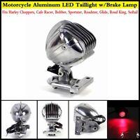 Chrome LED Side Mount Microphone Brake Taillight For Harley Roadking Sportster