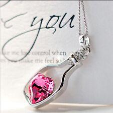 for Women, Kids, Boy, Girl Heart Crystal Pendant Stainless Steel Locket