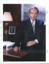 Vintage Photos 1999 Bill Heard Office Seated On Desk in Suit 8.5 X11.25 Inches