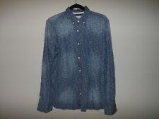 Men's Buffalo David Bitton Shirt Long Sleeve Chambray 100% Cotton Sz Sm