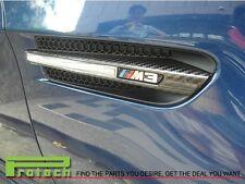 2008-2010 BMW E92 E93 M3 3K REAL CARBON FIBER SIDE FENDER GRILLE VENT TRIMS