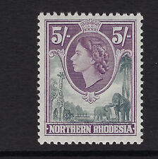 NORTHERN RHODESIA : 1953 QEII definitives 5/- grey and dull purple  SG 72 mint