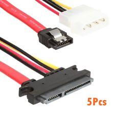 SATA 22 Pin ATA 22pin Serial ATA Data and Power Combo Cable 5Pcs