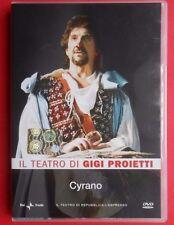 dvd luigi proietti il teatro di gigi proietti cyrano theatre cyrano de bergerac