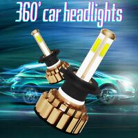 2x Bombillas H7 LED 260W 48000LM 6000K iluminación LED Faro Coche Blanco Frio