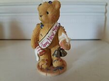 """Cherished Teddies Newton """"Ringing In The New Year with Cheer"""" Collectible Bear"""