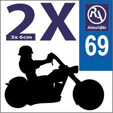 2 stickers style plaque immatriculation moto Département RHONE ALPES RA 69