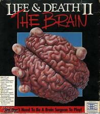 Life & Death II 2 The Brain PC CD surgeon doctor perform simulated surgery game!