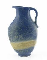 Karlsruher Majolika Keramik Vase Henkelvase Krug 7529 sand blau Mid Century 60er