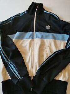 Veste survêtement ADIDAS VENTEX vintage 70'80's bleu taille S/M made in France