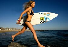 New 6 X 4 Photo Surf Girl Risque Erotic Pin Up 140