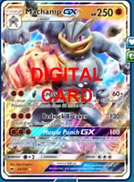 1X Machamp GX 64/147 Pokemon Online Card TCG PTCGO Digital Card
