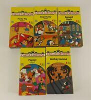 Lot of 5 Castle Cartoons 1988 VHS Tapes Porky pig, Bug Bunny, Popeye