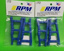 2 RPM 80705 Front Rear Blue A-Arms /Fits Traxxas 4x4 Slash Stampede & Rally 4wd