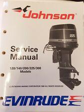 JOHNSON EVINRUDE SERVICE WORKSHOP REPAIR MANUAL 120 125 140 185 200 300 HP 1988