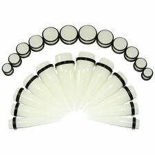 Stretching Kit Tapers And Plugs Glow Acrylic Big Gauges 24 Pc 00G-20