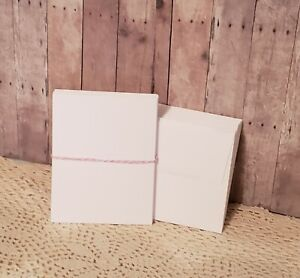 (25) White Blank Flat Note Cards with Envelopes - A2 (4.25x5.5) Heavyweight