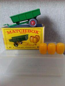 "MATCHBOX LESNEY No 51b TRAILER (TIPPER ) ""MIB"""