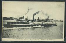 CA Port Costa ROTOGRAVURE 1910's RR RAIL TRANSFER BOAT FERRY SOLANO Shasta Route