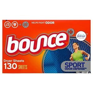 Bounce Dryer Sheets, Febreze Sport Odor Defense, 130 ct WORLD WIDE SHIPPING