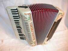 Bianco Freres, 120 Bass (Italia), Akkordeon, Koffer, Gurte, accordion, acordeon
