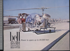 (192) Brochure hélicoptère Aircraft Helicopter Bell 47G-3B-1 Turbosupercharged