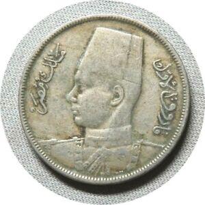 elf Egypt Kingdom 5 Milliemes 1938 AH 1357 Farouk