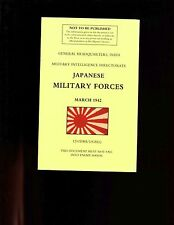 br- Japanese Military Forces (March 1942) , Hdqrs, India, sb, VG