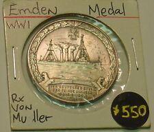 German cruiser Emden 1915 silver medal, EF.