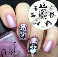 BORN PRETTY Nail Art Stamping Plates Cat Deer Sheep Pattern Image Stencil Decor