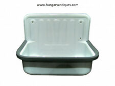 Bathroom enamel bucket sink,Wall Mounted Basins,Kitchen Sink,Farmhouse decor