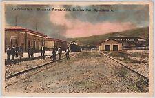 CARTOLINA d'Epoca - COSENZA provincia - Castrovillari : STAZIONE TRENI