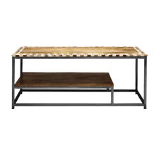 Handmade Teak Wood Inlay Diamond Design Coffee Table