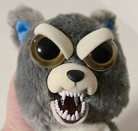 "Feisty Pets Husky Wolf Dog 8"" Plush Snarl Face Stuffed Animal Funny Scary Toy"