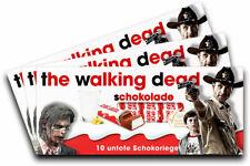 3x Aufkleber THE WALKING DEAD für Kinderschokolade (Geschenk, Gadget)