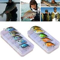 45mm 6pcs/box Colorful Fishing Lure Metal Kit Hooks Y4L5 O7Z8