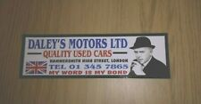 DALEY'S MOTORS CAR WINDOW STICKER ARTHUR MINDER 80'S RETRO