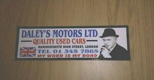 DALEY'S MOTORS CAR WINDOW STICKER ARTHUR MINDER 80'S RETRO