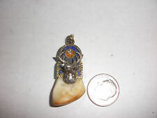 Exquisite Antique Victorian Large 14K Gold ELKS BPOE Tooth Watch Fob Pendant 9.8