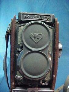 """Vintage ROLLEIFLEX """" Baby Rollei """"  TLR CAMERA 1:3.5 F=60MM GRAY Color w CASE"""