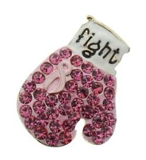 Breast Cancer  Pink Boxing Glove Fight  Hat or Lapel Pin Brooch Broach
