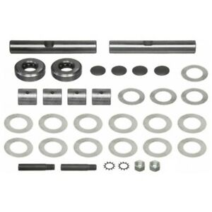 """Steering King Pin Set for International 2pc. Front .8605 """" x 5.437 """" FA1 Axle"""
